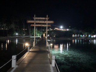 Our Jetty at Night, you will start the Dive Activities from this Jetty..