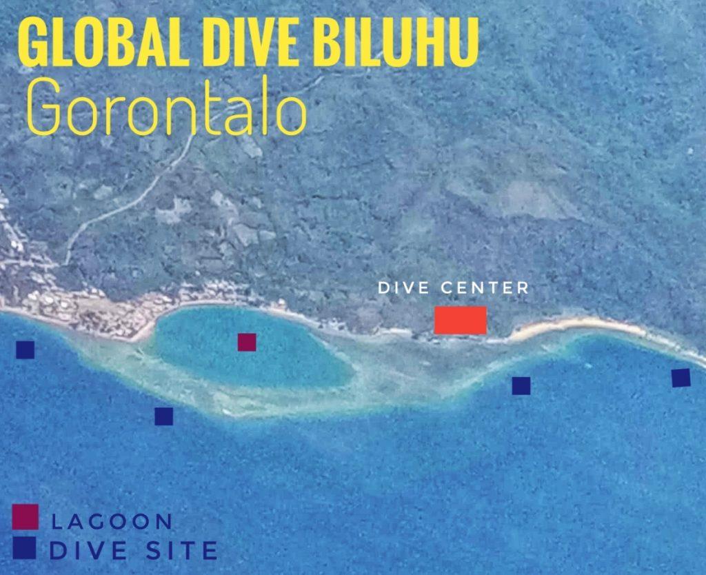 The Site of Global Dive Gorontalo, in Biluhu Timur, Batudaa Pantai, Gorontalo.