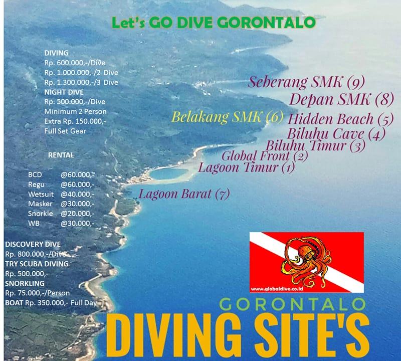 The Diving Site of Biluhu Timur Area of Batudaa Pantai
